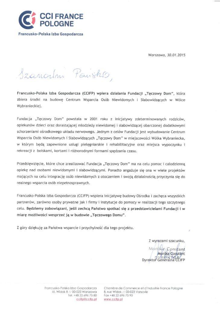 Nasza fundacja jest wspierana prze Francusko-Polską Izbę Gospodarczą